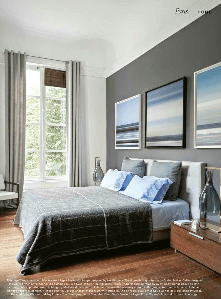 blue & grey bedroom