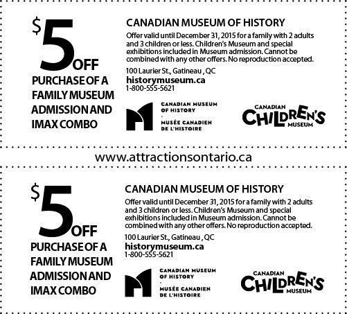 Canadian Children's Museum Coupons