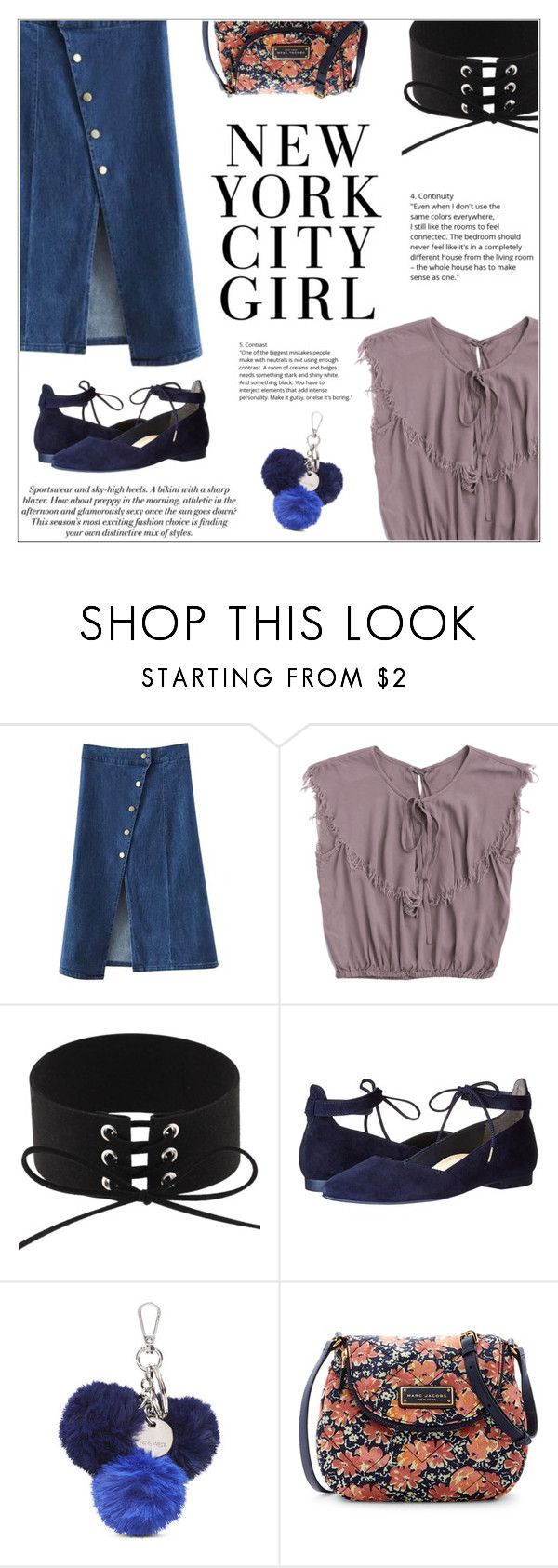 """""""City Girl"""" by shambala-379 ❤ liked on Polyvore featuring H&M, Paul Green, Nine West and Marc Jacobs"""