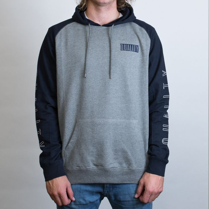 AS Colour Case Hoodie Leavers Gear - The Print Room NZ - Steel Marle/Black