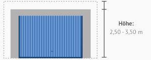 Gängige Höhe einer Großraumgarage