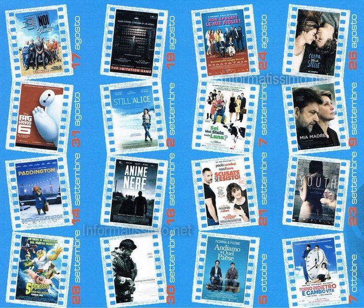 Sedici film meravigliosi, ogni lunedì e mercoledì, dal 17 agosto al 7 ottobre 2015, ore 19 e  21,30, con ingresso a soli €2,50... A Putignano