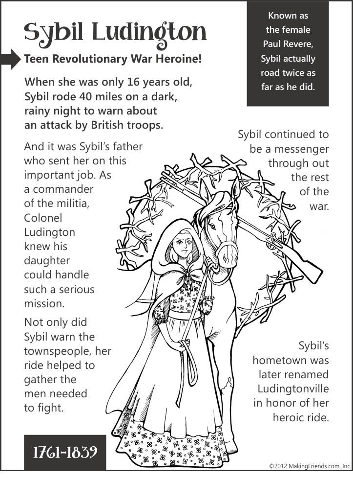 Sybil Ludington Teen Revolutionary War Heroine