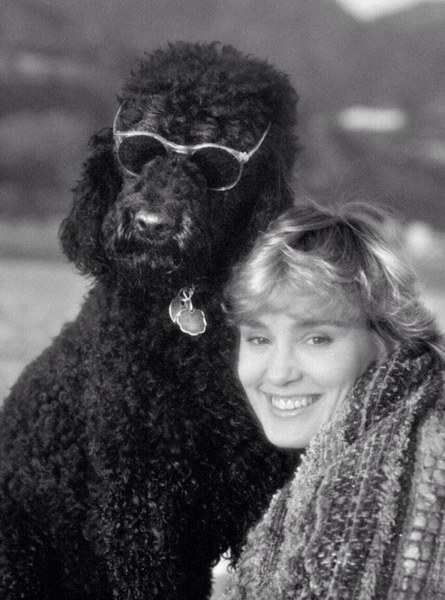 Jessica Lange and her poodle Marsha