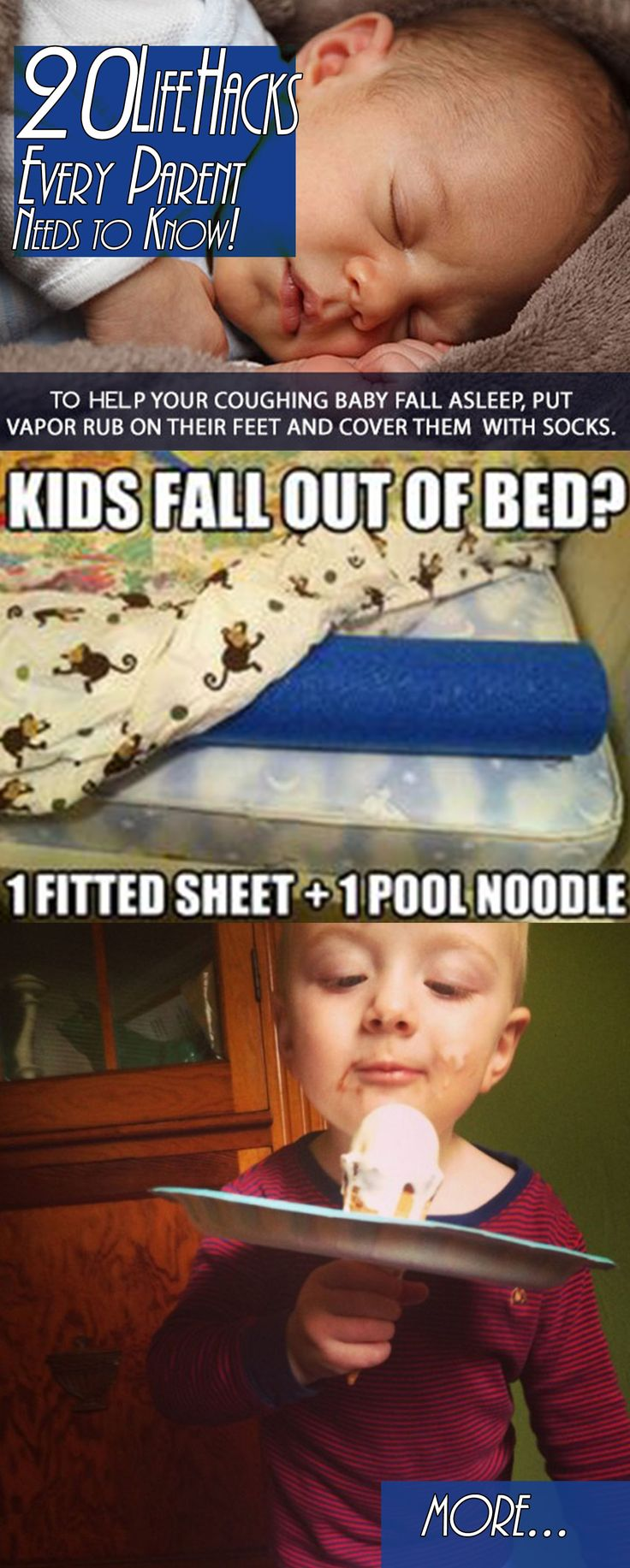 20 Life Hacks Every Parent Needs to Know!  Some I've seen before but there were a couple of new ones that were pretty genius!