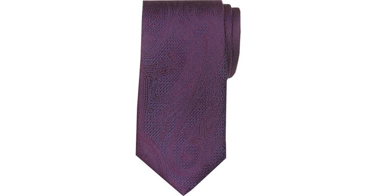 Check this out! Joseph Abboud Purple Paisley Narrow Extra Long Tie - Men's Extra Long Ties from MensWearhouse. #MensWearhouse