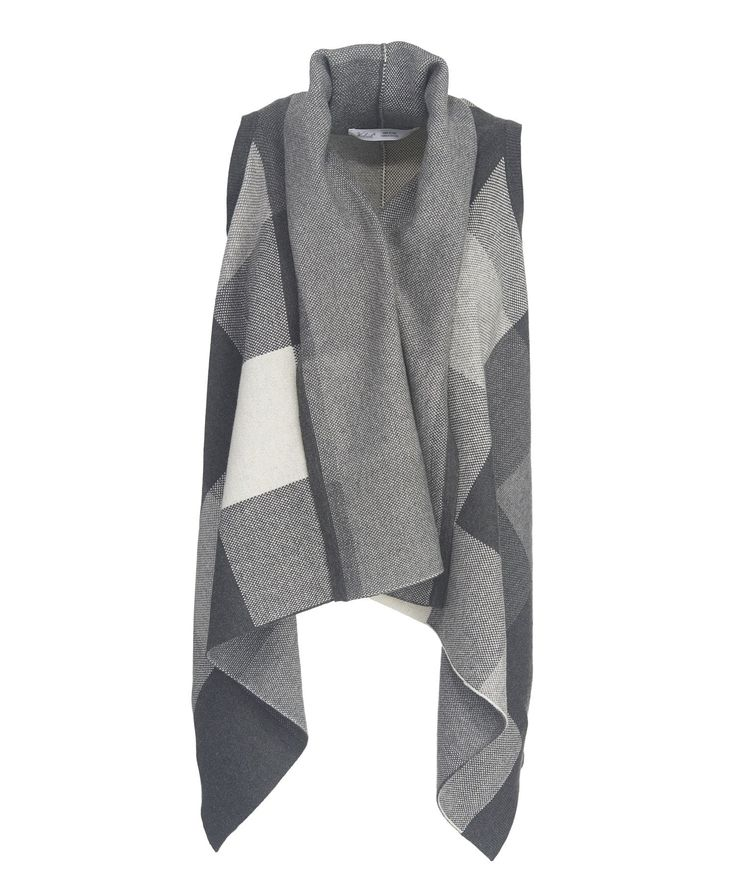 Women's Buffalo Check Cardigan Sweater Vest Wrap
