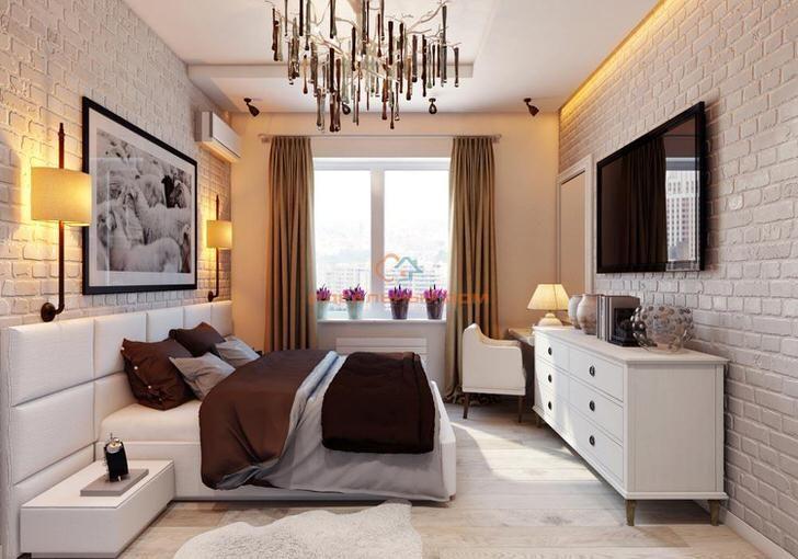 034-kreativniy-interer-spalni-v-stile-loft-oformlenie-i-materiali - offene küche wohnzimmer abtrennen