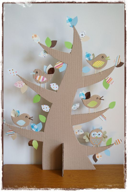 árbol navidad cartón