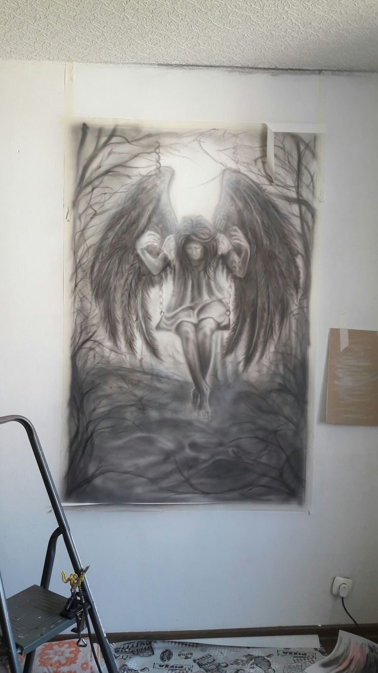 Next#mural#airbrush#blackangel#truth