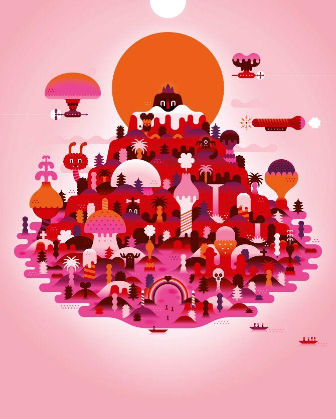 Mysteryland KHUAN+KTRON ilustracion diseño grafico