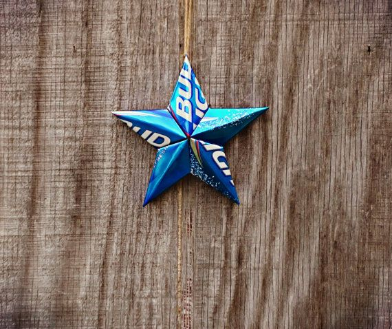 Upcycled Bud Light Beer Can Star Ornament by LicenseToCraft