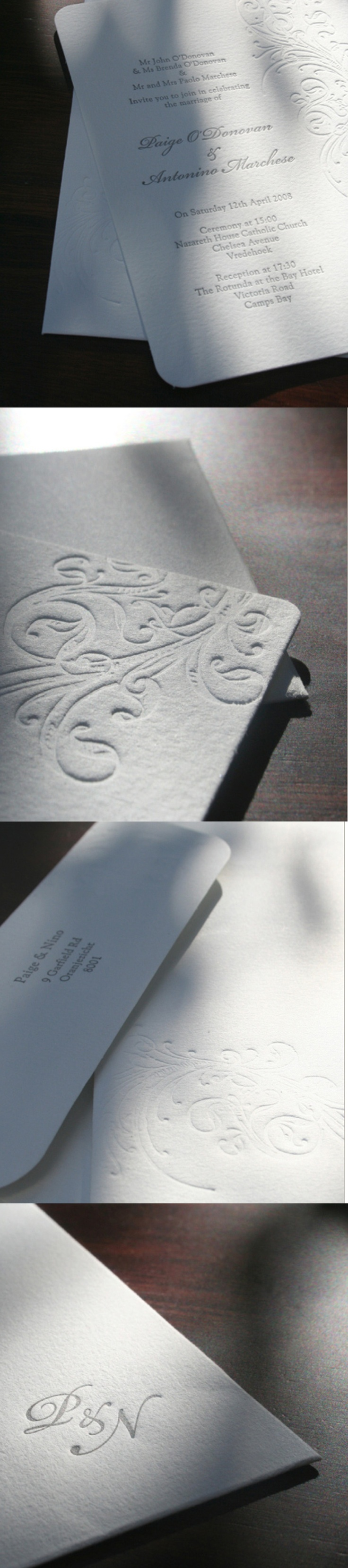 P Wedding Stationery by Creating a Storm