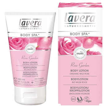 Lavera Body Spa Rose Garden Natural and Organic Body Lotion with the alluring aroma of Rose  www.lavera.co.uk
