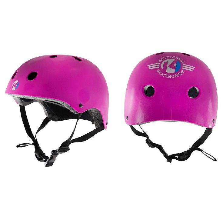 Kryptonics Starter Skateboard Helmet, Pink
