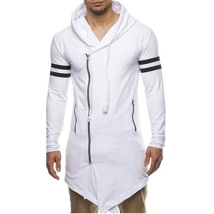 Men's Fashion - Long sleeve lowdrop white casual wear