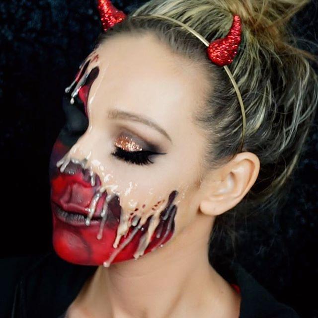 9 best devil makeup halloween 2017 images on Pinterest ...  Demon Halloween Makeup