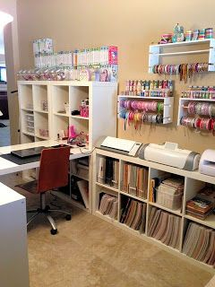 Love the organization and desk surface. Ribbons display easy to do.