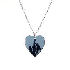Lineman Necklace Heart Charm > The Lineman Shop