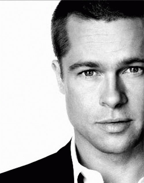 Brad Pitt( this picture was obviously taken before he started looking like a homeless waif.)