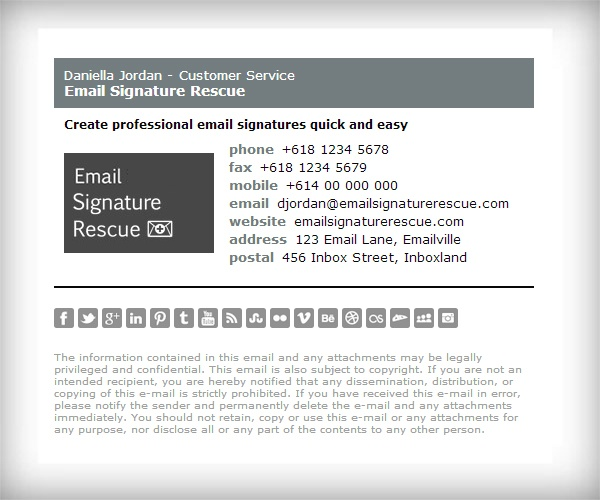 Best Email Signature Templates Images On   Email