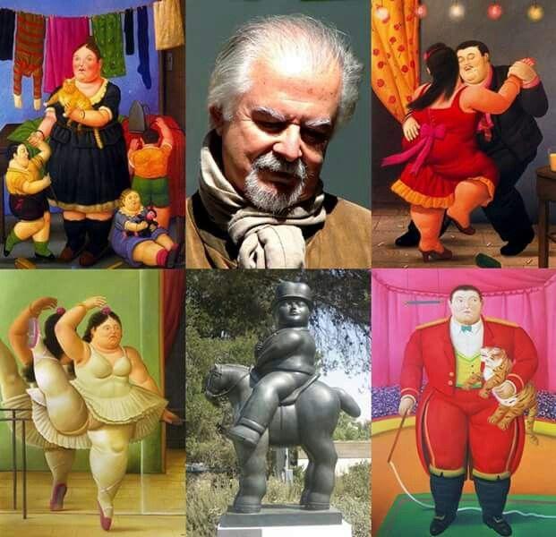 El Maestro Fernando Botero y algunas de sus obras