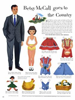 PAPER DOLLS! I love paper dolls! Free! All the McCall's from YEARS past.