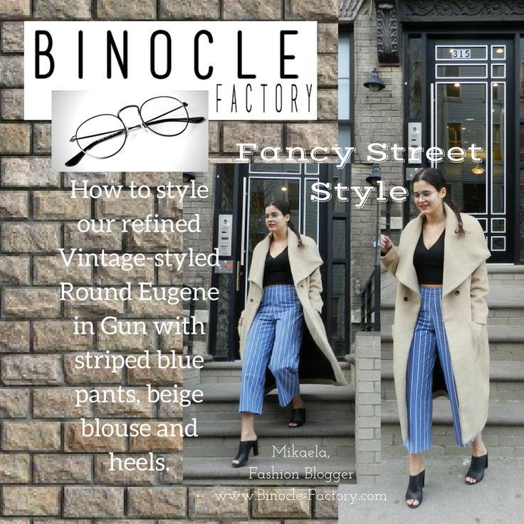 How Mikaela, fashion blogger, styled the round Eugene frames