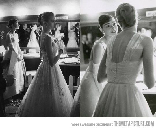 Audrey Hepburn and Grace Kelly, beauty and Elegance overload…