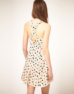 ASOS Summer Dress in Fruit Print. love the back