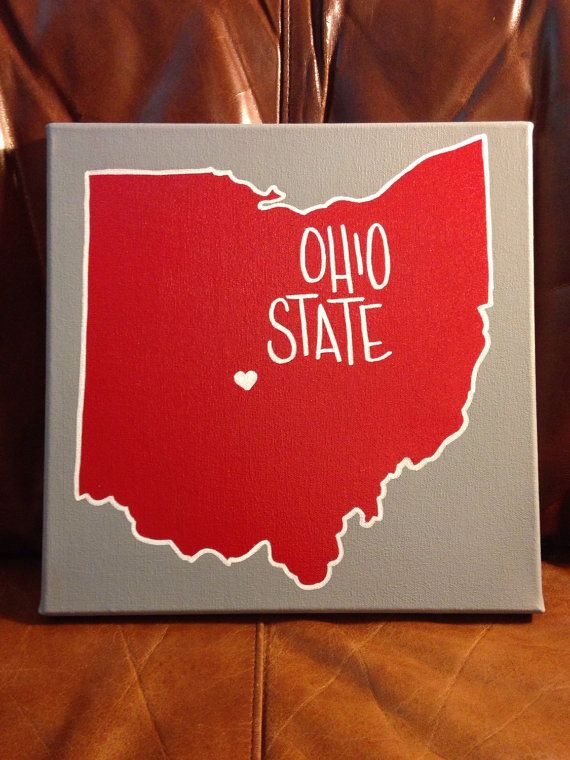 Ohio State Canvas 12 x 12 by teaforyoursoul on Etsy