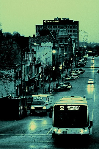 GUELPH- downtown, city buses