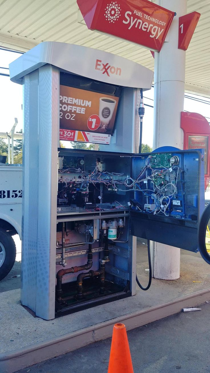 The inside of a gas pump.https//ift.tt/2IPz8Qn Funny