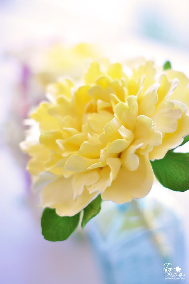68 Best Flower Peony Images On Pinterest Fondant Flowers Sugar