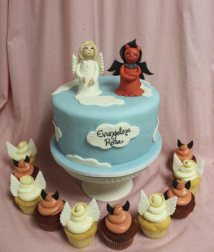 14 Best Devil Vs Angel Cake Images On Pinterest