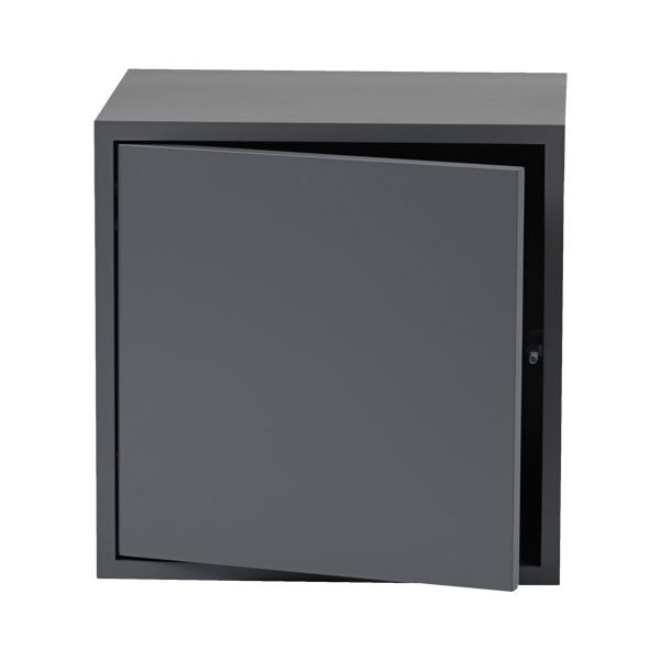 Muuto, Stacked module with door, medium, dark grey