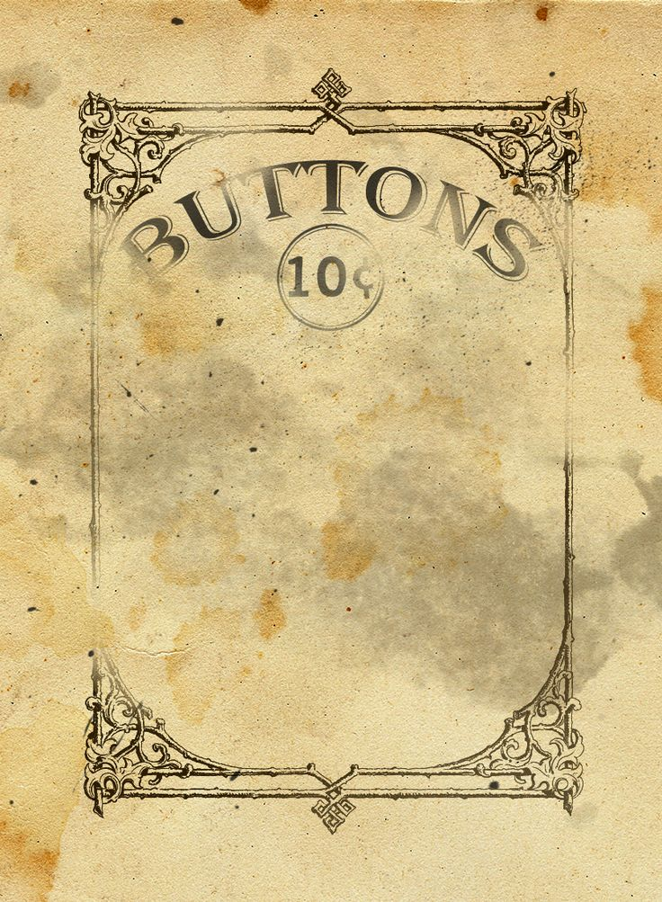 Free Vintage Button Card Printable Download