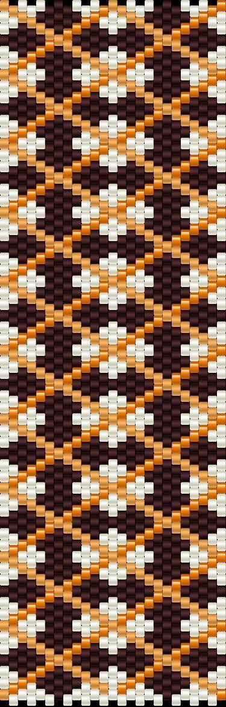 ESQUEMA MANCHETE de PERLEAQUA  .... Another bead pattern that would make cool knitted socks in fair isle