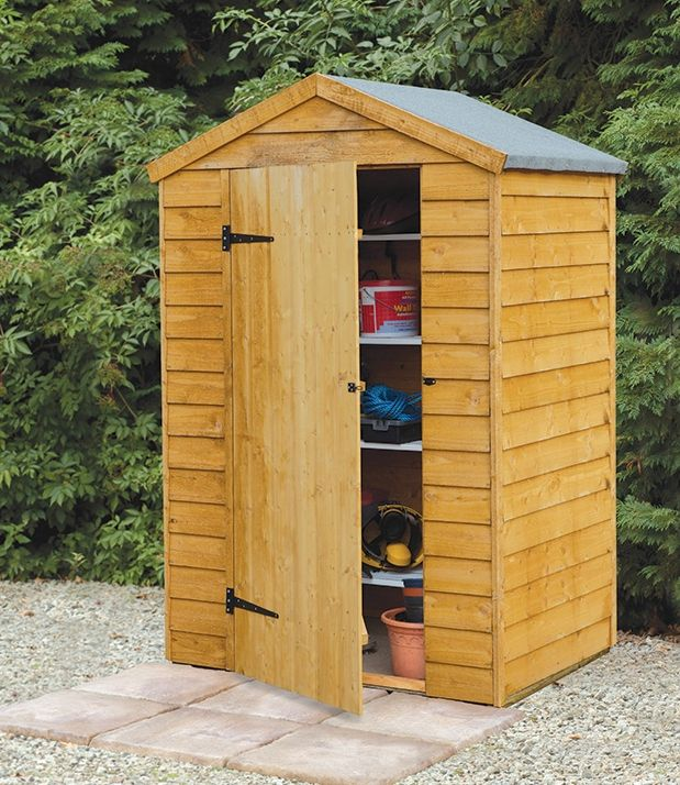 Marvelous Good For A Small Garden, The 4 X 3 Overlap Apex Shed Has The Type