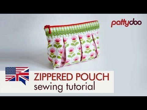 Cosmetics bag with box pleats – video – Sew Modern Bags