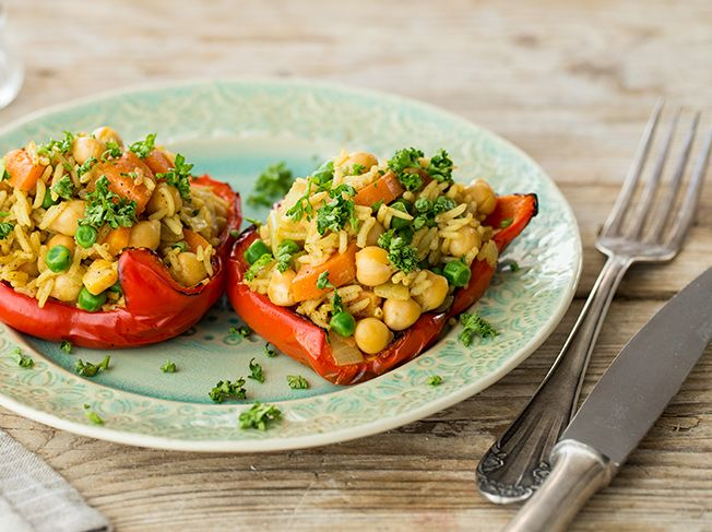 Gefüllte Paprika mit Curry-Reis_article