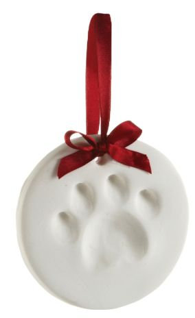 Christmas Stocking Stuffer Gifts for the Puppy Dog:  Pear Head Dog Paw Ornament Kit @ Amazon