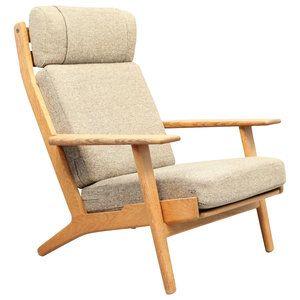 Easy chair model GE290/H designed by Hans Jørgen Wegner and manufactured Getama, Denmark.