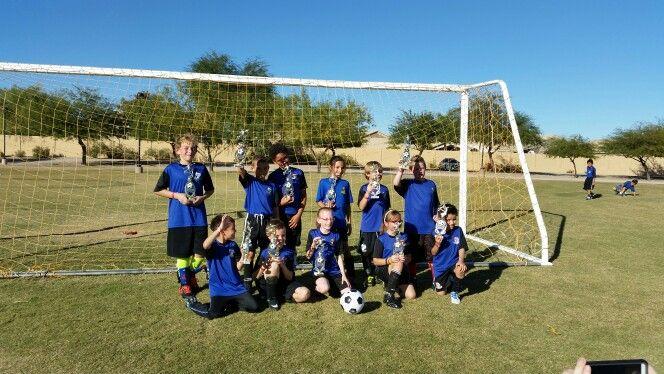 Alana's soccer team won third place on 11/22/15.  Way to go team!
