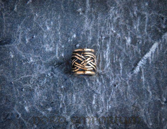 Viking Beard Beads 6mm (bronze) viking, pagan, celt, beard ring, viking jevelry, hair ring