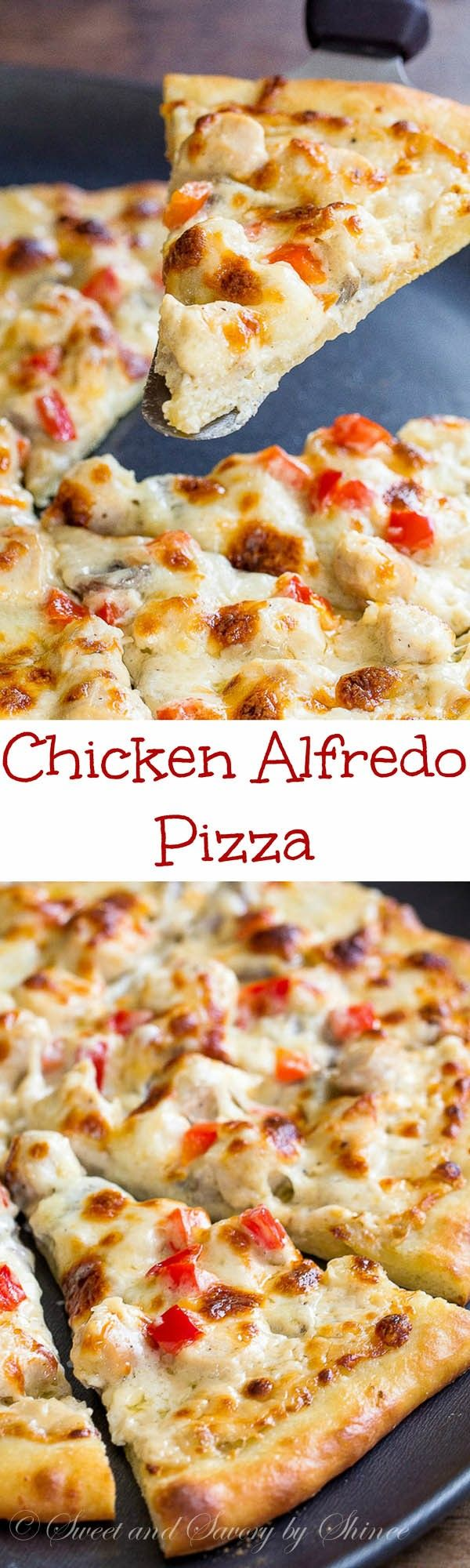 Tips and tricks for delicious thin crust pizza with creamy cheesy chicken alfredo topping.