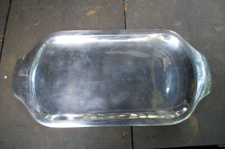 "Vtg Nambe Silver Platter Modern Serving Tray ""420"" #Nambe"