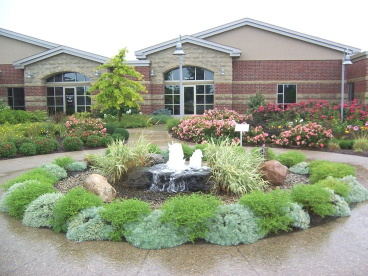 landscaping ideas for the side of your house   Front yard fountain design Front yard fountain design