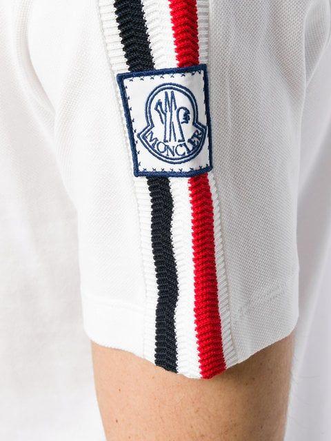 online store aa718 794bd Moncler Gamme Bleu Moncler Shoulder Strap Polo Shirt - White ...