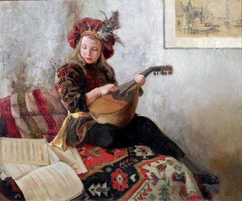 Natasha Milashevich (1967, Russian)_Lute Lesson